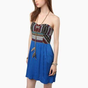 Staring at Stars Patterned Bustier Dress